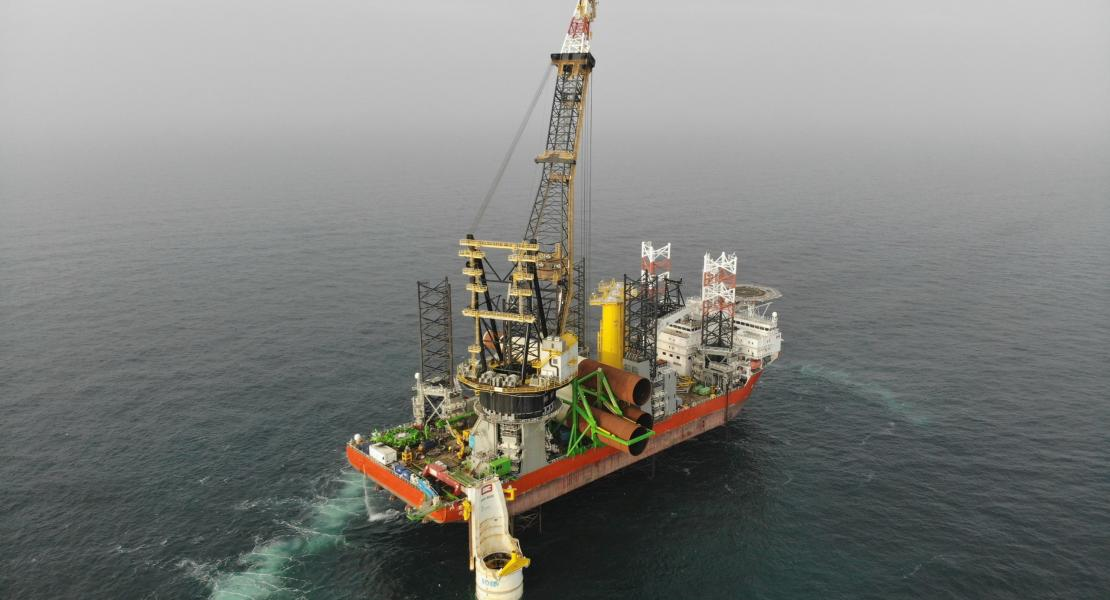 Pacfic Osprey (DEME) on the Albatros Offshore wind farm project