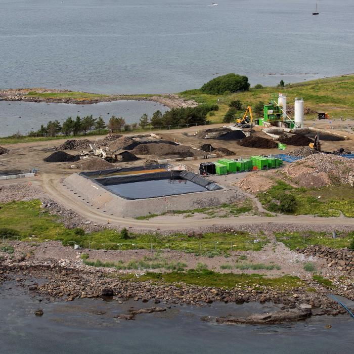Construction site of Valloy, Norway